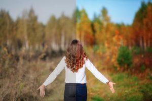 femme avant et après une psychothérapie
